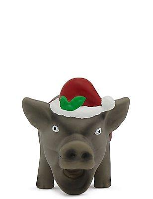 Jouet pour chien en forme de cochon de Noël qui couine, , catlanding