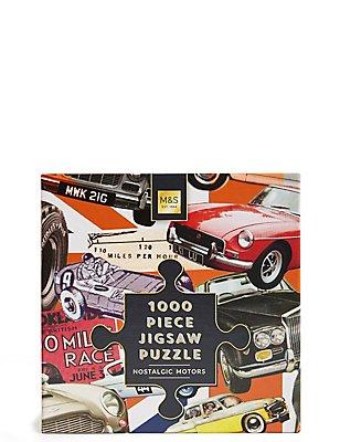 Legpuzzel met nostalgische voertuigen, 1000 stukjes, , catlanding