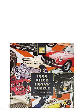 1000 Piece Jigsaw Puzzle Nostalgic Motors, , catlanding