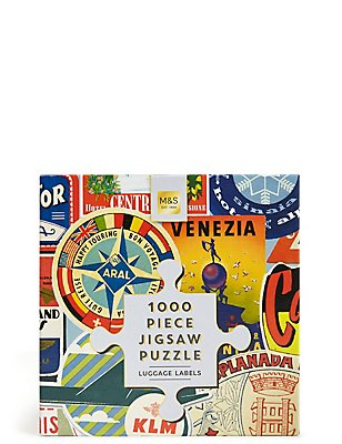 "1000-teiliges Puzzle ""Luggage Labels"", , catlanding"