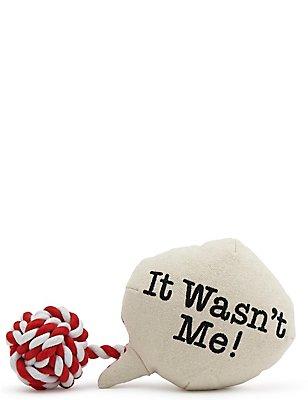Boule avec texte «It Wasn't Me», , catlanding