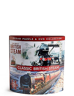 Classic British Steam DVD & Puzzle Kollektion, , catlanding