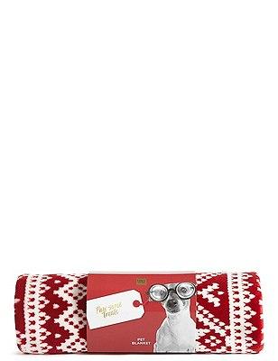Fairisle Print Fleece Pet Blanket | Marks & Spencer London
