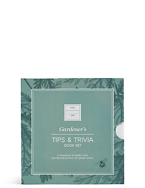Gardener's Tips & Trivia Book Set, , catlanding