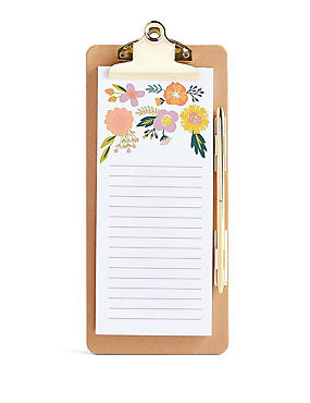 Shopping List Note Pad & Pen, , catlanding