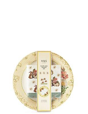 Plate & Napkin Set, , catlanding