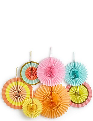 7 Piece Fan Decoration Set, , catlanding
