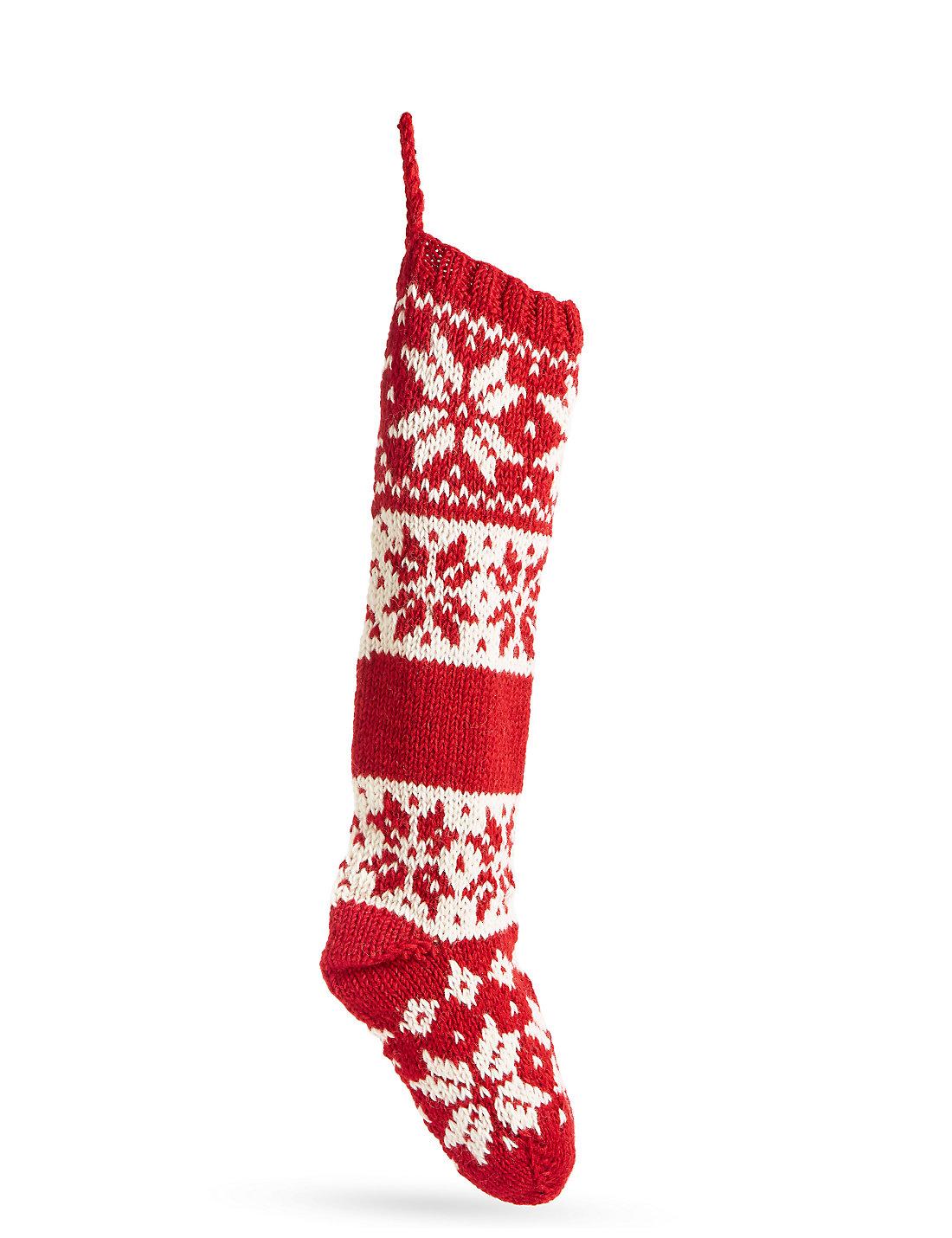 fairisle knitted stocking - Light Up Christmas Socks