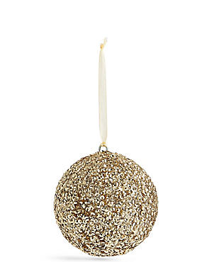 Gold Beaded Bauble, , catlanding