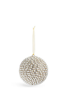 Beaded Pearl Bauble, , catlanding