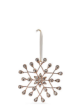 Hanging Boutique Jewel Snowflake, , catlanding