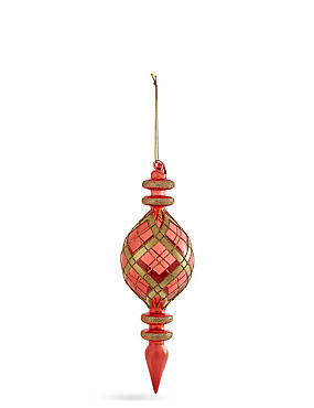 Red & Gold Glass Finial, , catlanding