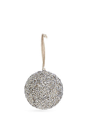 Silver Beaded Bauble, , catlanding