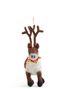 Felt Reindeer, , catlanding