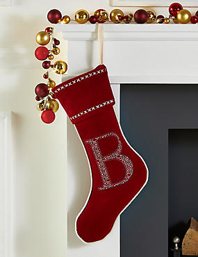 Alphabet Stocking, RED, catlanding