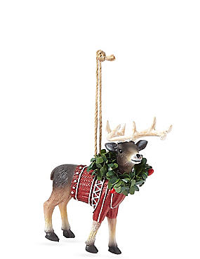 Resin Stag with Jumper, , catlanding