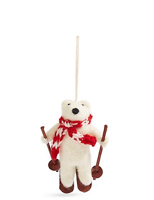 Felt Polar Bear, , catlanding