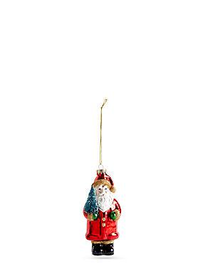 Glass Santa with Tree, , catlanding