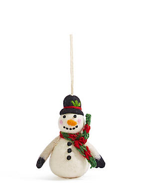 Felt Snowman, , catlanding
