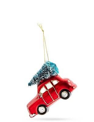 Red Glass Car with Tree, , catlanding