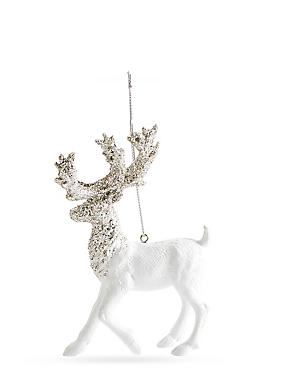 White Stag With Silver Glitter, , catlanding