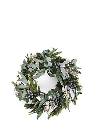 Grey Berry Wreath, , catlanding