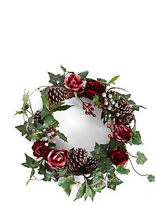 Lilafarbener Kranz aus Blumen, , catlanding
