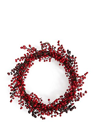 Red Berry Wreath, , catlanding