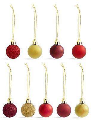 Set of 54 Shatterproof Boutique Minis Baubles, , catlanding