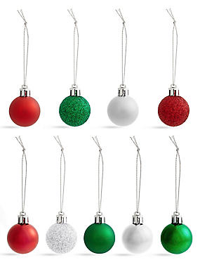 Set of 54 Shatterproof Winterberry Minis Baubles, , catlanding