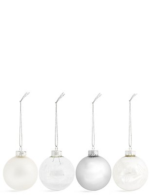Set of 12 Luxury Glass Retreat Baubles, , catlanding