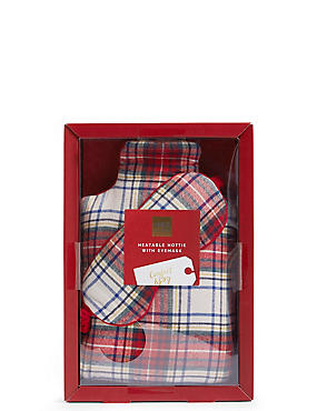 Tartan Hottie & Eye Mask Set, , catlanding