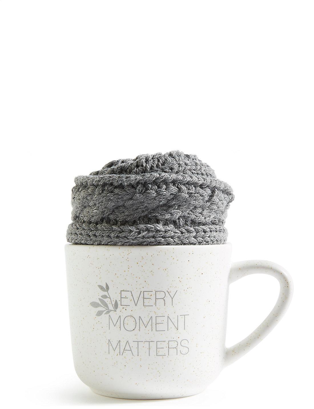 Grey Mug & Cosy Sock Set