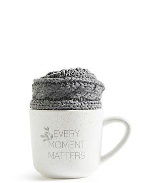 Grey Mug & Cosy Sock Set, , catlanding