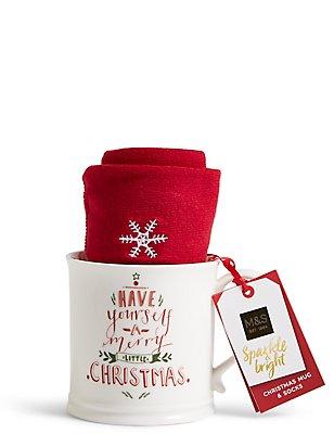 Calcetines y taza festivos, , catlanding