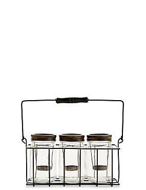 3 Jar Tea Light Holder, , catlanding