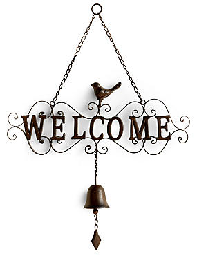 Welcome Bell Sign, , catlanding