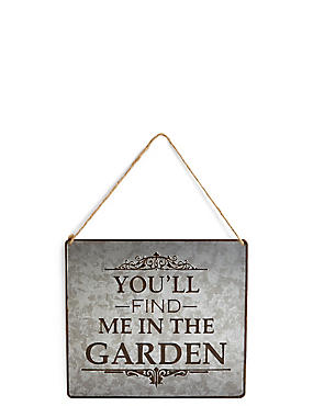 Slogan Garden Sign, , catlanding