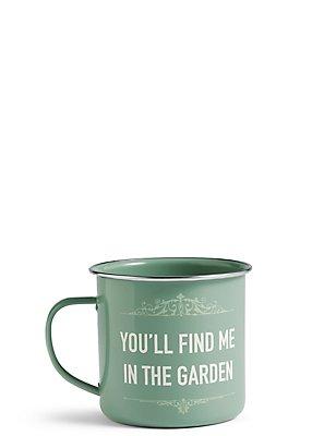 Garden Slogan Mug, , catlanding