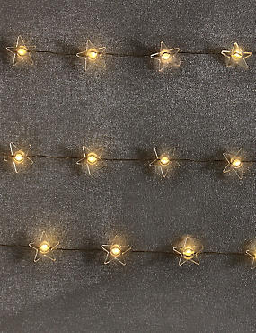 20 Star LED Wire Lights, , catlanding