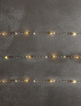 20 Pearl LED Wire Lights, , catlanding