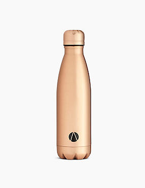 Stainless Steel Drinks Bottle, GOLDEN ROSE, catlanding
