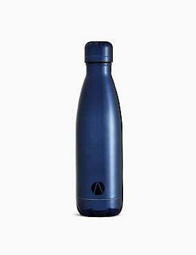Stainless Steel Drinks Bottle, NAVY, catlanding