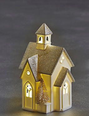 Glitter Light-up Church, , catlanding