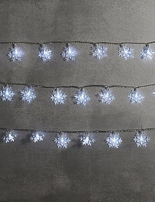 80 Cool White Snowflake LED Multifunctional Lights, , catlanding