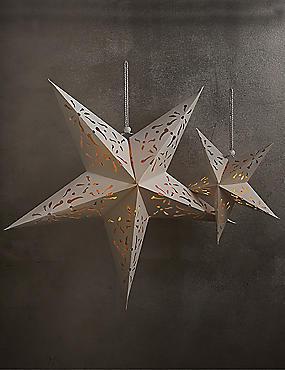Set of 2 Decorative Light-up Stars, , catlanding