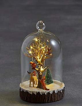 Light-up Forest Scene in Bell Jar, , catlanding
