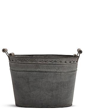 Galvanised Pots, , catlanding