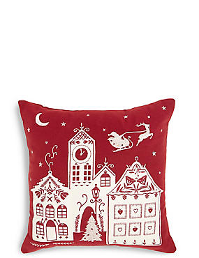 Village Light Up Cushion, , catlanding