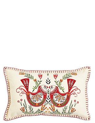 Robin Applique Cushion, , catlanding